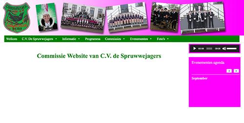 Website C.V.de Spruwwejagers