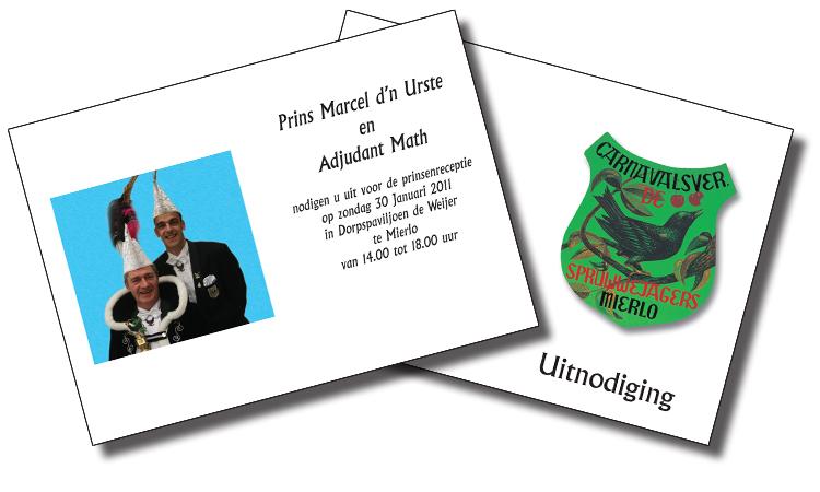 Uitnodiging Prins Marcel d'n Urste